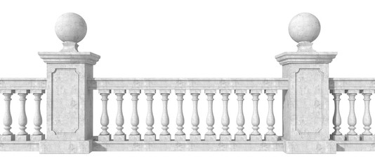 Balustrade on white