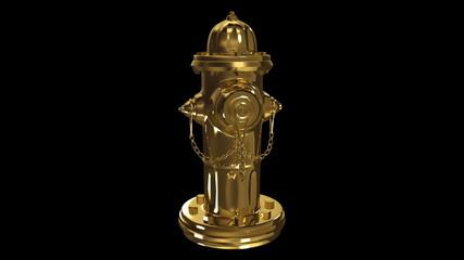 Gold fire plug