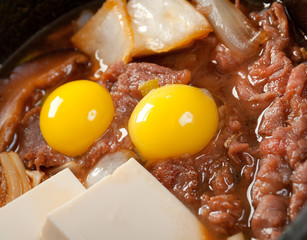 beef with egg quail