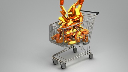 Gold in the shopping cart