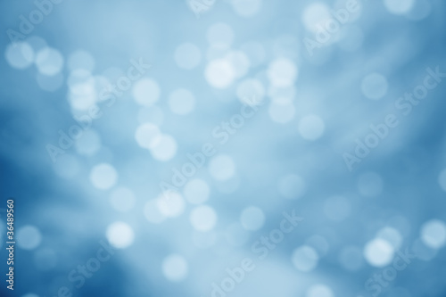 Defocused blue abstract background