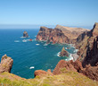 Wild coast of the Island of Madeira