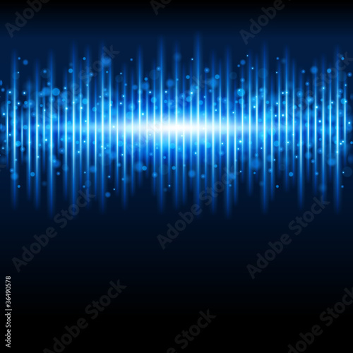 Abstract blue waveform background