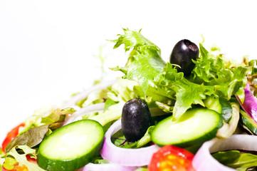 Fresh mesclun salad extreme close up