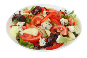 sdalad with blue cheese