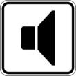 Lautsprecher Lautstärke leise Schild Zeichen Symbol