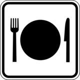 vektor essen gastst tte kantine besteck schild zeichen symbol. Black Bedroom Furniture Sets. Home Design Ideas