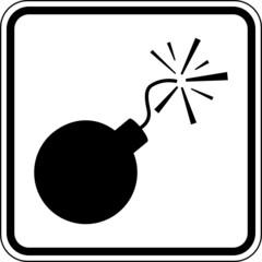 Bombe Schild Zeichen Symbol Grafik