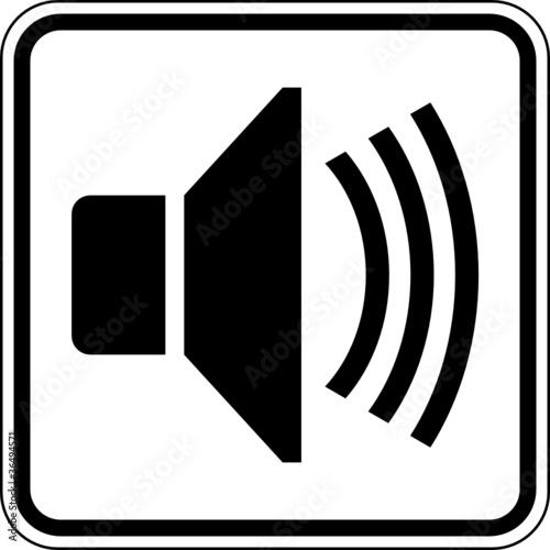 Lautsprecher Lautstärke laut Schild Zeichen Symbol