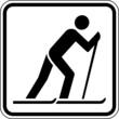Ski laufen Langlauf Skifahrer Schild Zeichen Symbol Sport