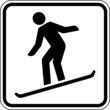Snowboard fahren Wintersport Schild Zeichen Symbol