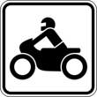 Motorradfahrer Zweirad Motorrad Schild Zeichen Symbol