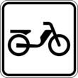 Mofa Motorfahrrad Parkplatz Schild Zeichen Symbol