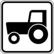 Traktor Zugmaschine Schild Zeichen Symbol