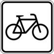 Fahrzeug Fahrrad fahren Zweirad Schild Zeichen Symbol