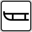 Schlitten Rodel Winter Schild Zeichen Symbol