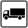 LKW Lastkraftwagen Schild Zeichen Symbol