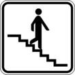 Treppe abwärts runter Treppenstufen Schild Zeichen Symbol