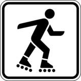 Inliner fahren Inlineskaten Schild Zeichen Symbol