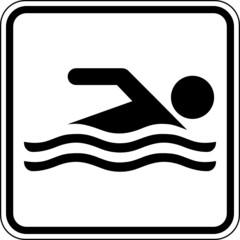 Schwimmen Schwimmer Schwimmbad Schild Zeichen