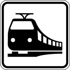 Zug Bahn Schienenverkehr Schild Zeichen Symbol