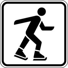 Eislaufen Schlittschuh fahren Schild Zeichen Symbol