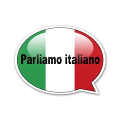 Pegatina globo Parliamo italiano