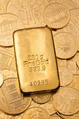 Geldanlage in echtem Gold als Goldbarren