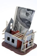 Rohbau Haus. Finanzierung mit Dollar