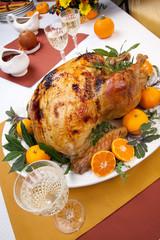 Roasted turkey feast