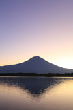 Mt. Fuji and Lake Tanuki at dawn
