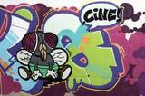 Fototapete Kino - Wand - Graffiti