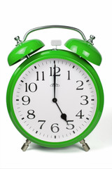 Wecker 5 Uhr / Five a clock  - grün / green