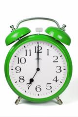 Wecker 7 Uhr / Seven a clock  - grün / green
