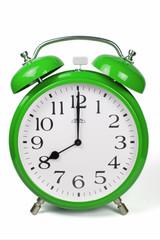 Wecker 8 Uhr / Eight a clock  - grün / green
