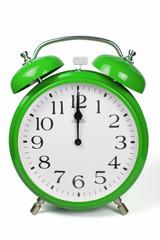 Wecker 12 Uhr / Twelve a clock  - grün / green