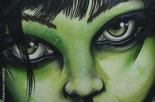 Wall mural Graffiti mujer
