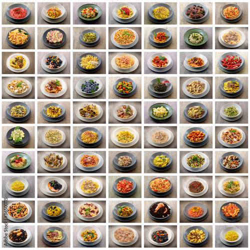 pasta collage
