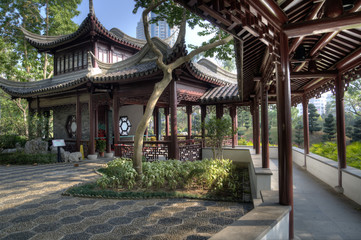 Mountain View Pavillion, Kowloon Walled City Park, Hong Kong.