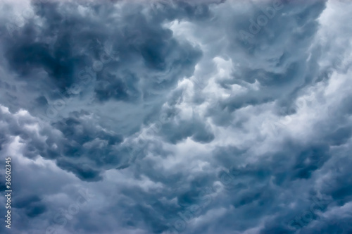 Dark thunderstorm clouds