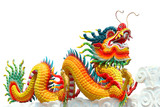 Fototapety Colorful chinese dragon isolated