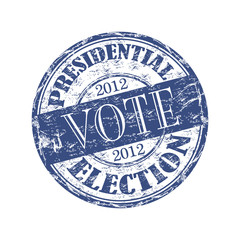 Vote presidential election grunge rubber stamp