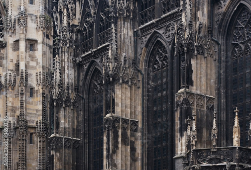 Gothic cathedral church, Vienna, Austria