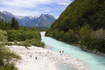 Glacial valley (Soca valley Slovenia)