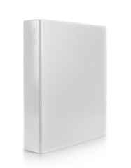 white binder isolated on white background