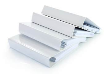 binder documents in stack