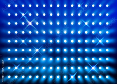 Papiers peints Lumiere, Ombre Sparkling blue spotlight wall