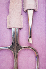 manicure tools closeup
