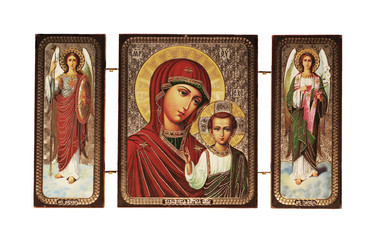 Christian icon isolated
