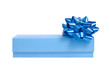 blue gift box with a wrap bow